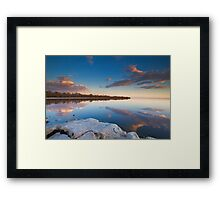 Salton Sea Sunset Framed Print