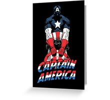 captain america vintage Greeting Card