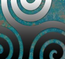 Hammered Metal Triple Spiral Sticker