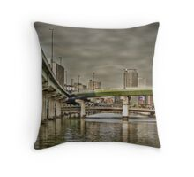 Dojima bridges Throw Pillow