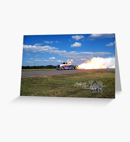 fire breathing jet semi Greeting Card