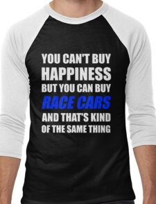 You Can't Buy Happiness But You Can Buy Race Cars Men's Baseball ¾ T-Shirt