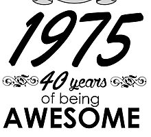 made in 1970 45 years of being awesome by teeshoppy