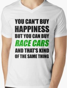 You Can't Buy Happiness But You Can Buy Race Cars Mens V-Neck T-Shirt