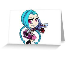 Jinx League Of Legends (chibi) Greeting Card