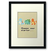 1st Gen Starters Framed Print