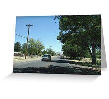 county neighborhood Greeting Card