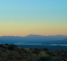 Sunset on Roosevelt Lake by waltham845