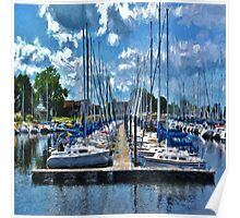 Sailboats Painted 2 Poster