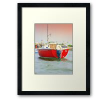 Red Sail Boat Framed Print
