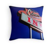 Cabana Inn Throw Pillow
