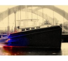 Wickford Concrete Bridge & OK Boat Photographic Print
