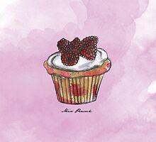 Wildberries Cupcake by misspeacock