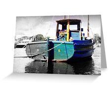 O.K. Popeye Boat At Wickfor Harbor Greeting Card
