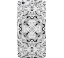 """Spirit of India: Fleur and Cross"" in white, grey and black iPhone Case/Skin"