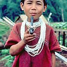 Boy with his tobacco pipe by John Spies