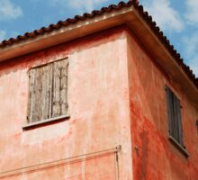 Red Building in Caorle Sticker