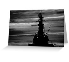 Battleship Greeting Card