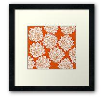 flower (orange) Framed Print