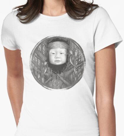 Rock, Scissors, Paper Womens Fitted T-Shirt