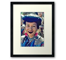 Black smile Framed Print