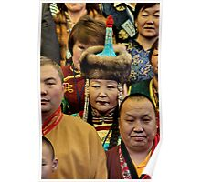 traditional. mongolian people, india Poster