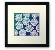 flower (blue-green) Framed Print
