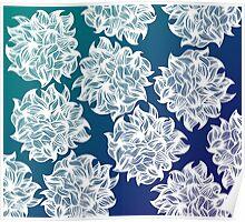 flower (blue-green) Poster