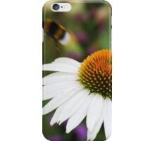 Echinacea Purpurea with Bee 4 iPhone Case/Skin