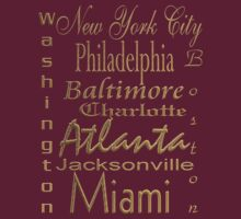 East Coasters T Shirt by Lisa  Weber