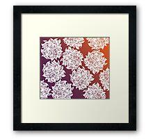 flower (orange-purple) Framed Print