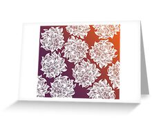 flower (orange-purple) Greeting Card