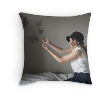 as time evolves. Throw Pillow