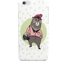 Hipster-bear iPhone Case/Skin