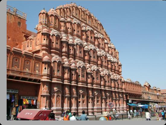 Hawa Mahal, Jaipur landmark, Rajesthan, India by AravindTeki