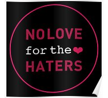 No Love for the Haters Poster