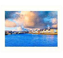 Morning Overlooking The Waters of Galway Ireland Art Print