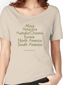 The New World Order of Continents T Shirt Women's Relaxed Fit T-Shirt