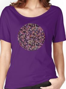 Leaves + Berries in Olive, Plum & Burnt Orange Women's Relaxed Fit T-Shirt