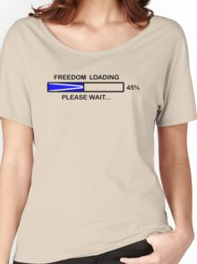 FREEDOM LOADING 45% Women's Relaxed Fit T-Shirt