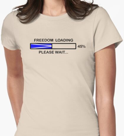FREEDOM LOADING 45% Womens Fitted T-Shirt