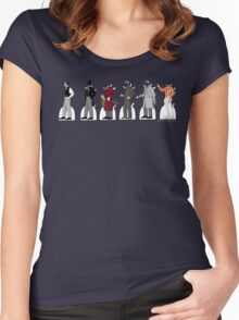 Basil Rathbone Paper Dolls Women's Fitted Scoop T-Shirt