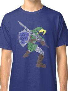 Legend of Zelda - Link - Typography Classic T-Shirt