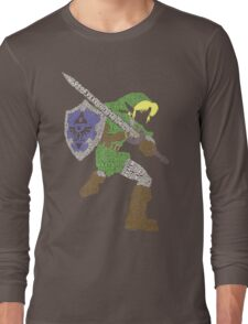 Legend of Zelda - Link - Typography Long Sleeve T-Shirt