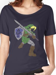 Legend of Zelda - Link - Typography Women's Relaxed Fit T-Shirt