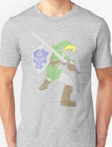 Legend of Zelda - Link - Typography T-Shirt