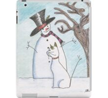 The Snowman and The Snowcat iPad Case/Skin
