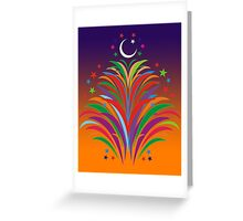 Id Festival Fireworks Greeting Card