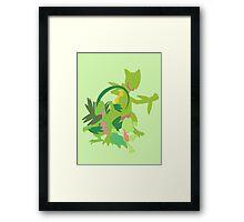 Treecko Evolution Framed Print