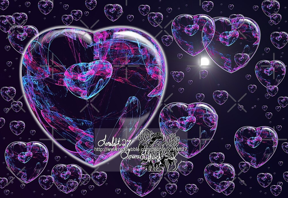 crystal heart bubbles by LoreLeft27